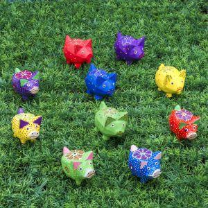 """Набор сувенирный """"Свинки в цветочек"""" 5 шт.,17,5х6,5х6 см МИКС 3370323"""