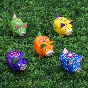"Набор сувенирный ""Свинки с ушками"", 5 шт., 17,5х6,5х6 см МИКС  3370324"