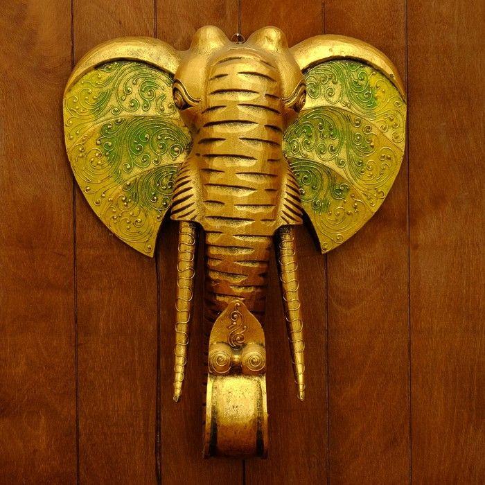 """Сувенир дерево """"Голова Слона"""" 50х48х20 см 2926525"""