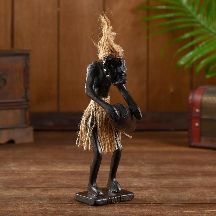 "Сувенир из дерева ""Абориген коллекционер"" 9х8х25 см   5013721"