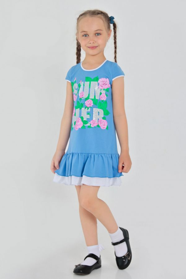 Платье Кайла детское [голубой]