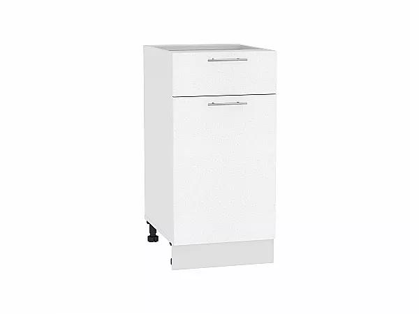 Шкаф нижний Валерия Н401 (белый металлик)