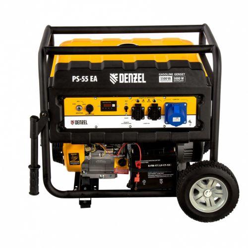 Генератор бензиновый PS 55 EA, 5.5 кВт, Denzel