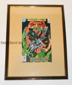 Автографы: Джин Колан, Дик Джордано, Боб Кейн, Адам Уэст. Бэтмен 1984 год. Редкость