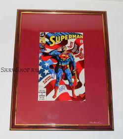 Автографы: Кристофер Рив, Джерри Ордуэй. На комиксе Супермен 1991 года. Редкость
