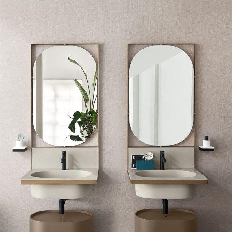 Овальное зеркало с подсветкой Cielo Elle Ovale ELSPO 70х110 ФОТО