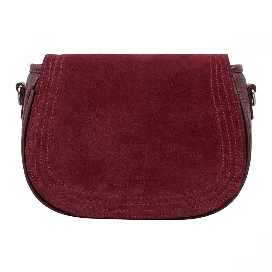 Женская кожаная сумка Lakestone Cameron Burgundy