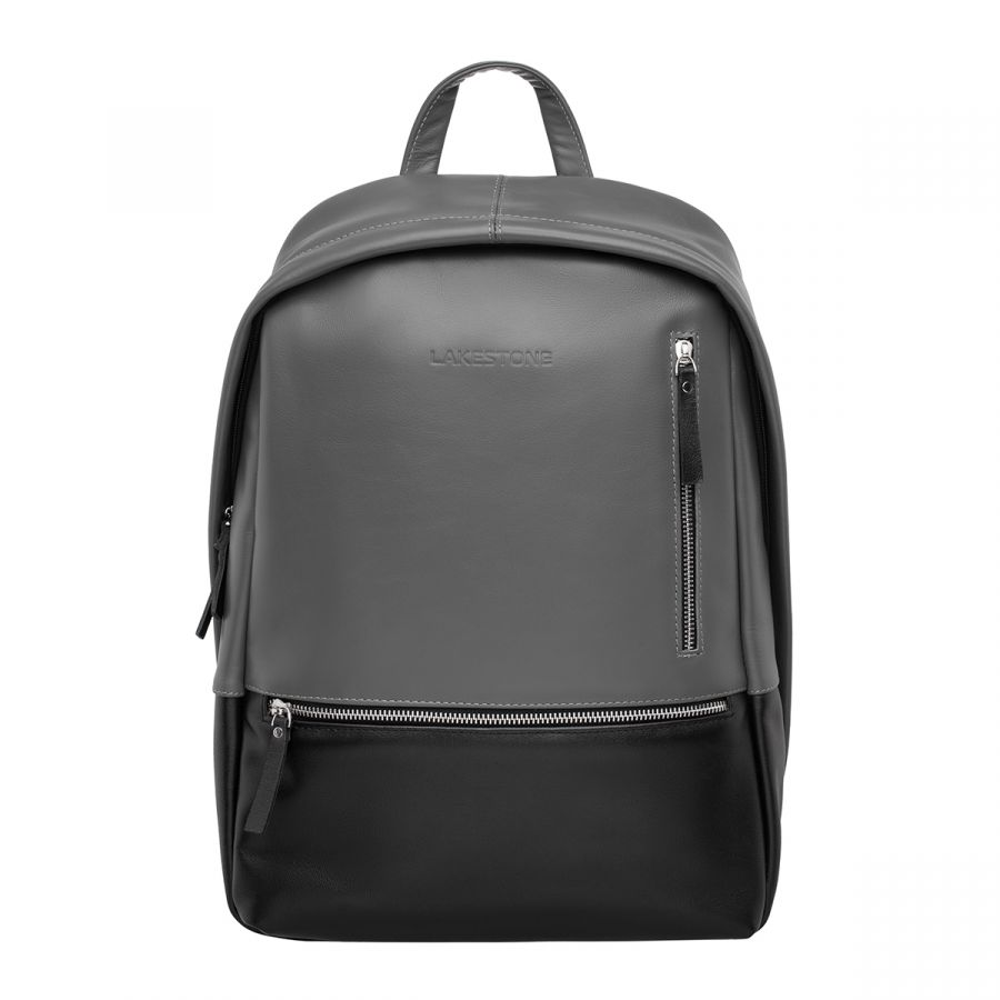 Кожаный мужской рюкзак Lakestone Adams Black Grey