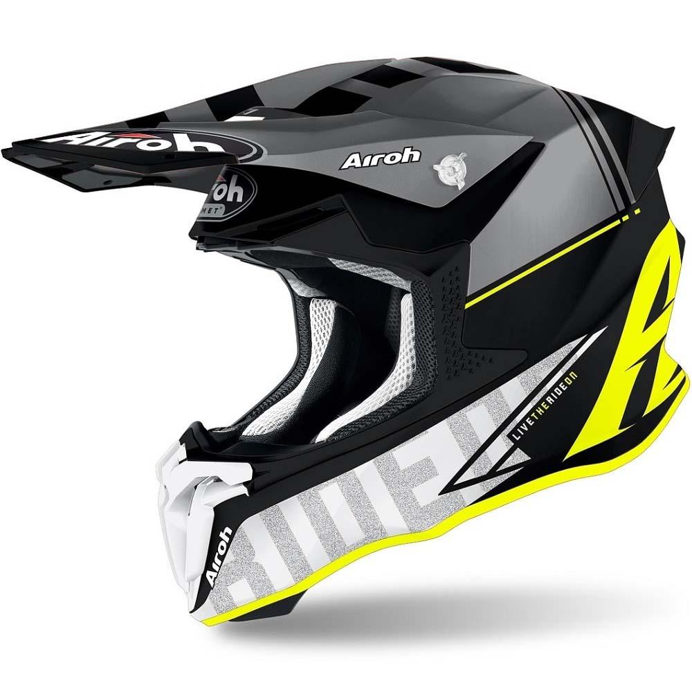 Airoh Twist 2.0 Tech Yellow Matt шлем внедорожный