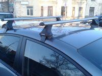 Багажник на крышу Hyundai Sonata 7 (LF) 2014-19, Атлант, аэродинамические дуги