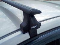Багажник на крышу Hyundai Sonata 7 (LF) 2014-19, седан, Атлант, крыловидные аэродуги (черный цвет)