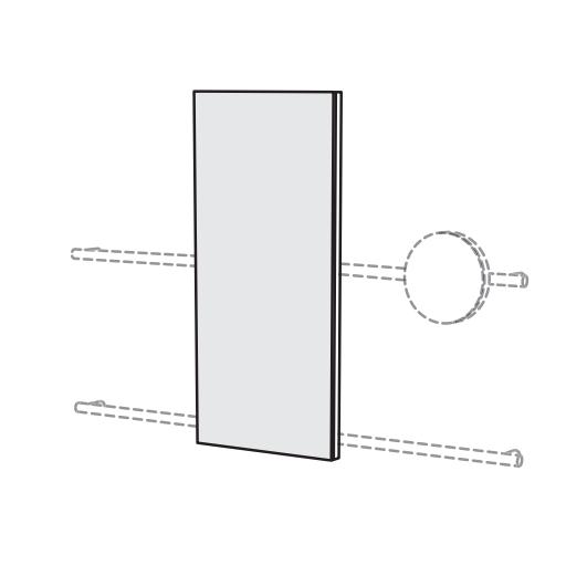 Прямоугольное зеркало Cielo Siwa SWSPR 45х110 ФОТО