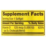 Витамин D3 Spring Valley 5000UI, 250 капсул