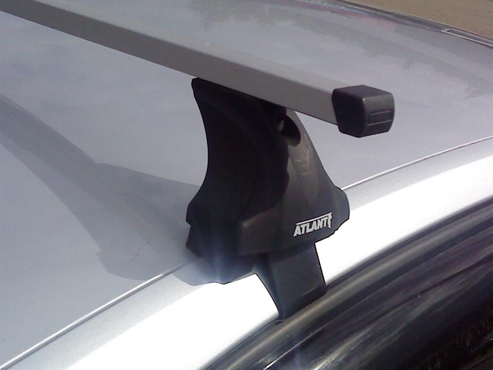 Багажник на крышу Volkswagen Polo 2020-..., Атлант, прямоугольные дуги