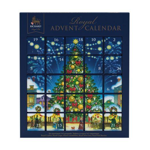 Чай Richard  Royal Advent Calendar ассорти 25 пир. (5 вкусов по 5 штук)