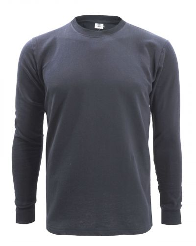 Однотонный лонгслив с начесом для мужчин 48-56  BR101 темно-серый