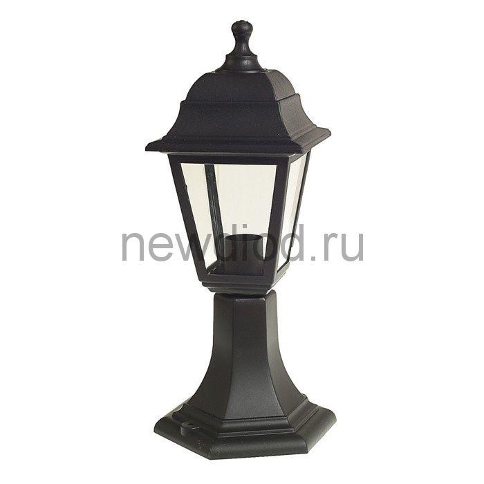 Светильник Luazon 01-3, садово-парковый, четырехгранник, E27, стойка, черный