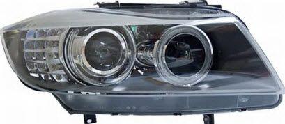BMW E90 фара правая с корректором, (ксенон) -D1S- под диоды с указателем поворота (Depo) черного цвета