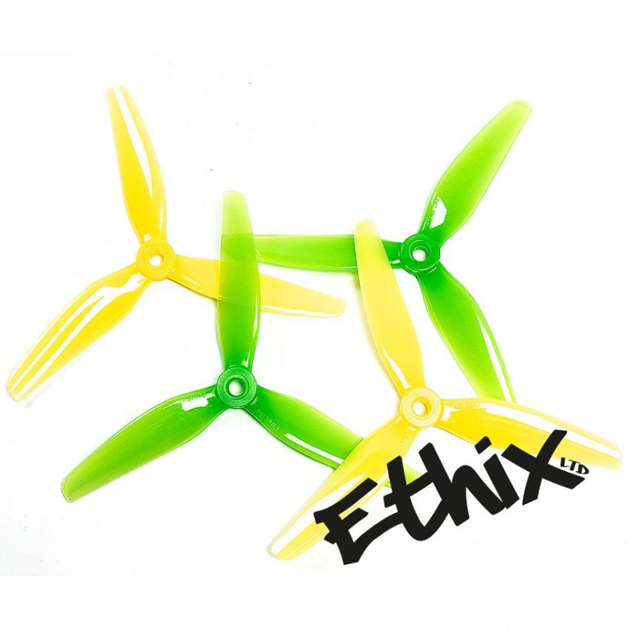 Пропеллеры Ethix S4 Lemon Lime трёхлопастные (2 пары)