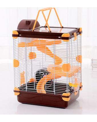 Клетка для мелких домашних животных Teddy Village с прямой прозрачной крышей 3 уровня