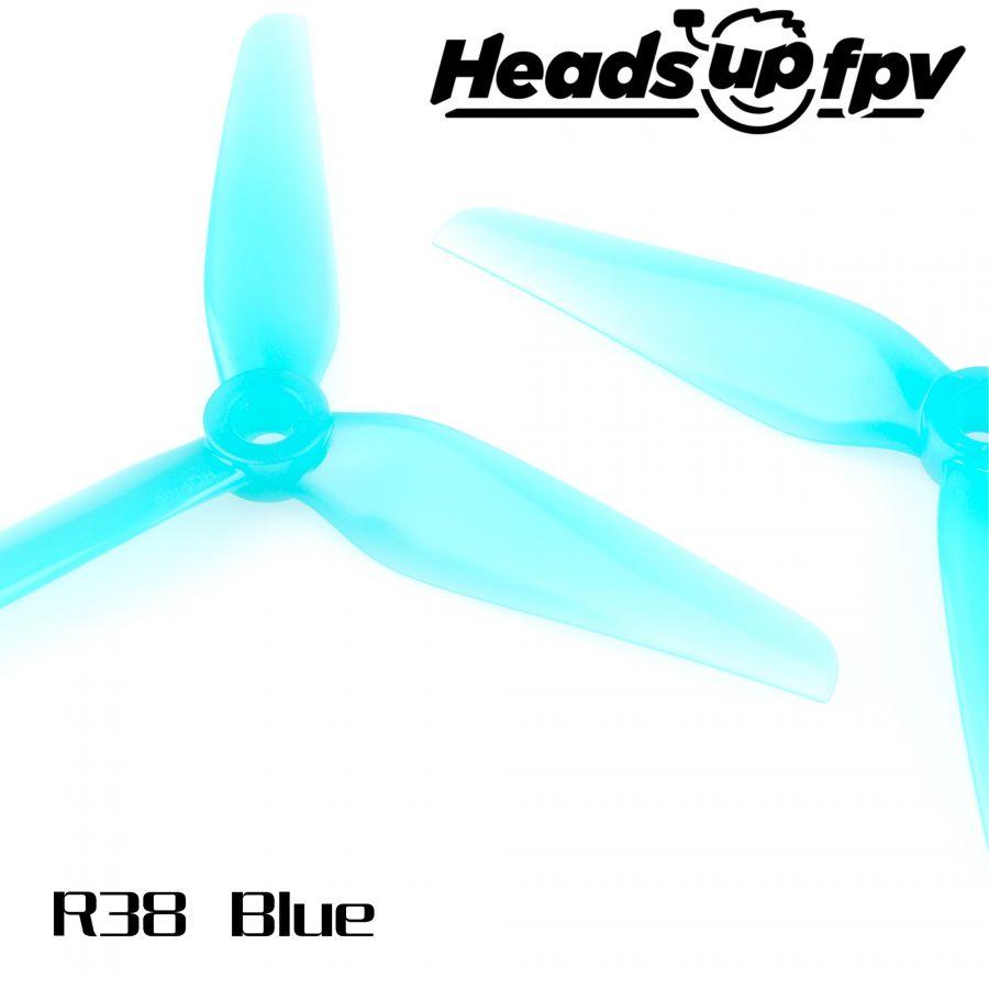 Пропеллеры HeadsUp R38 Racing трёхлопастные (2 пары)