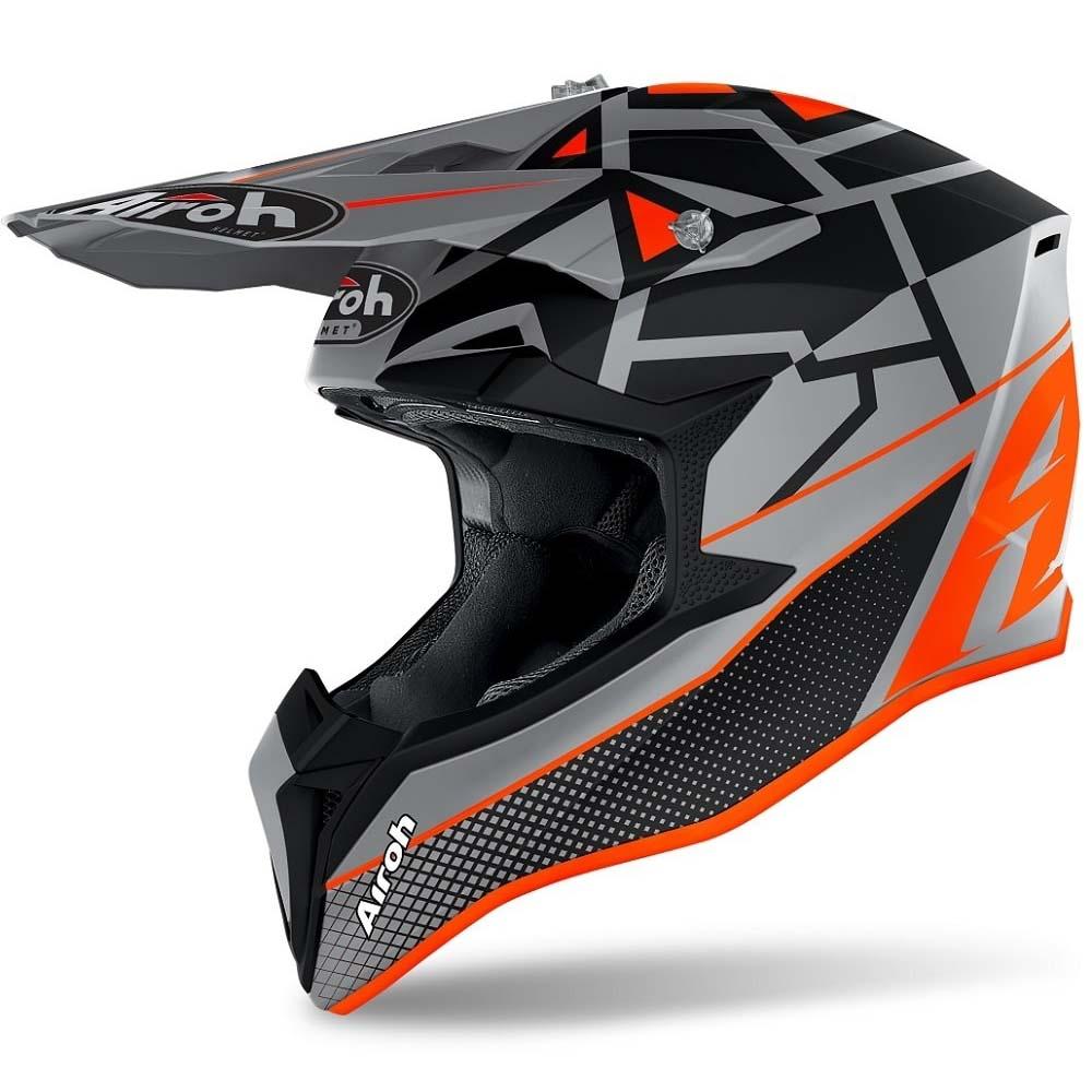 Airoh Wraap Mood Orange Matt шлем внедорожный