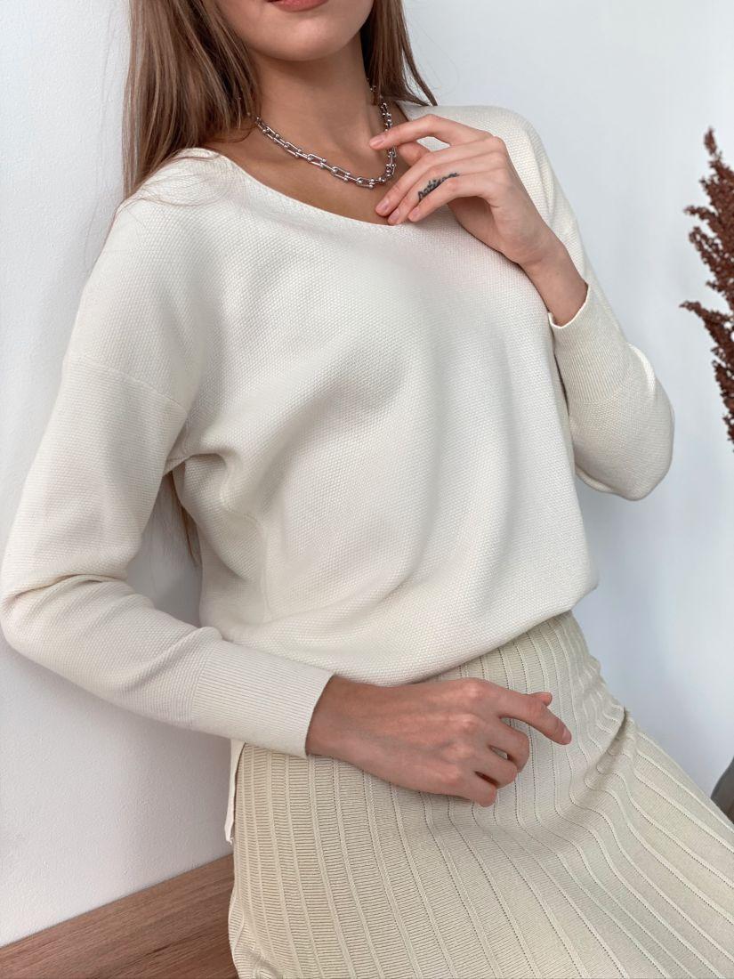 s3124 Пуловер в цвете слоновой кости