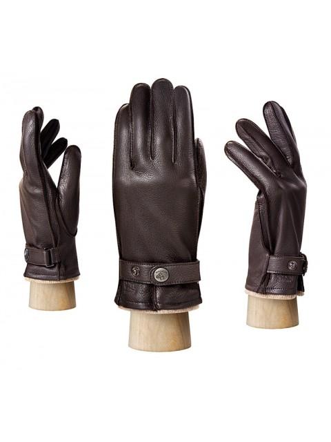 Мужские черные перчатки ELEGANZZA