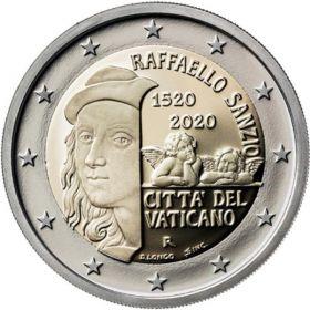 500 лет со дня смерти Рафаэля 2 евро Ватикан 2020 на заказ