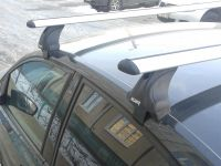 Багажник на крышу Volkswagen Jetta A7, Атлант, крыловидные аэродуги, опора Е