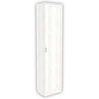 Шкаф для белья со штангой арт. 107 в цвете арктика