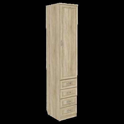 Шкаф для белья с ящиками арт. 104 (дуб сонома)