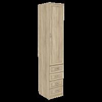 Шкаф для белья с ящиками арт. 104 в цвете дуб сонома