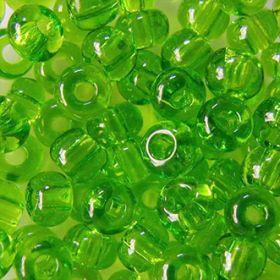 Бисер чешский 50430 салатовый прозрачный Preciosa 1 сорт