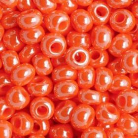 Бисер чешский 98140 оранжевый непрозрачный блестящий Preciosa 1 сорт