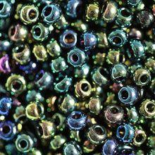 Бисер чешский 59155 темно-зелёный непрозрачный блестящий ирис Preciosa 1 сорт