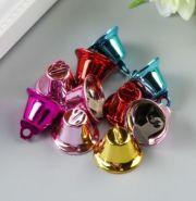 """Набор декора для творчества """"Колокольчики цветные"""" d=1,6 см, 10 шт."""