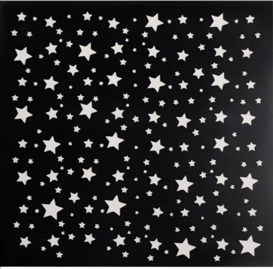 Трафарет фоновый Звезды, 15*15 см