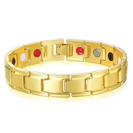 Магнитный Браслет здоровья, цвет золот., ширина 11мм