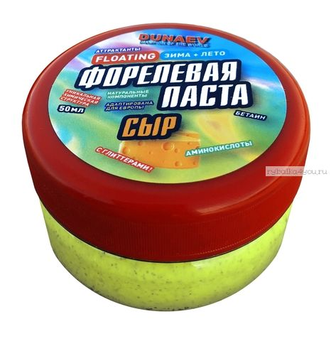 Паста Dunaev 50мл Форель Сыр Лайм
