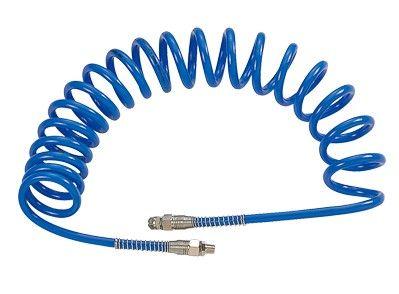 """Шланг пневматический спиральный высокого давления 8х12 мм, 15 м, М1/4"""", полиуретановый MIGHTY SEVEN SD-23115"""