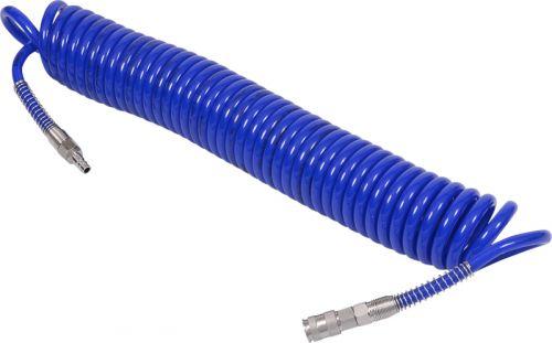 Шланг пневматический спиральный высокого давления 8х12 мм, 15 м, полиуретановый, фитинги МАСТАК 680-08115SQ
