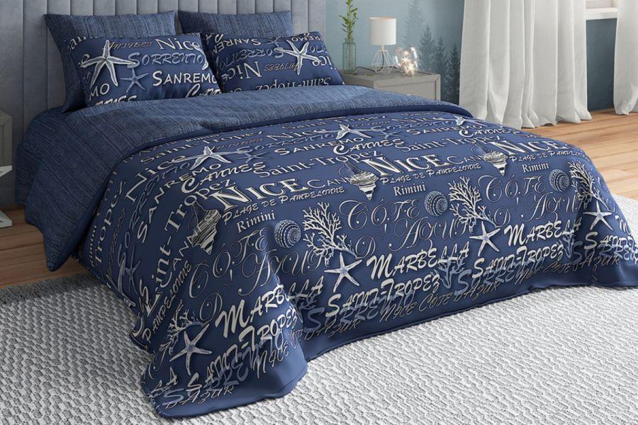 Бязь 2-х спальный [синий] Павлайн BREEZ Nizza постельное белье