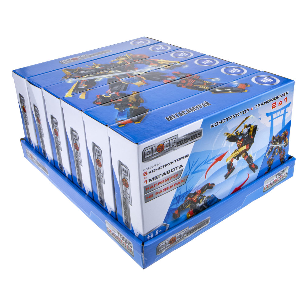 "1TOY Blockformers Transconnector конструктор ""Мегасамурай"" 6 шт. в д/б, коробка"