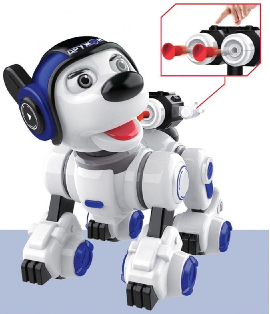 """1toy """"ДРУЖОК"""", интерактивный, радиоуправляемый робот-щенок (песни,стихи,викторины,загадки,басни), размер игрушки 25х27х18см"""