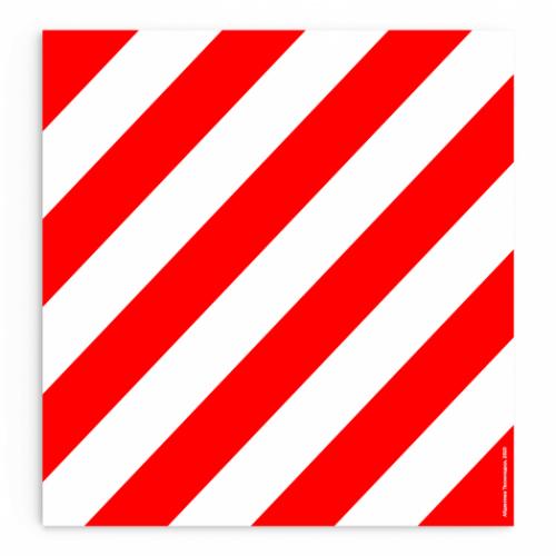 """Наклейка светоотражающая """"Негабаритный груз"""" (крупногабаритный), 40х40 см, Айдентика Технолоджи"""