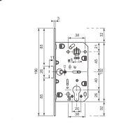 Замок AGB Mediana Polaris YALE Black (B06103.50) + ответная планка. схема