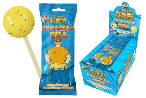 ЗУБОДРОБИЛКА Большая ОПА многослойная конфета на палочке с надувной резинкой