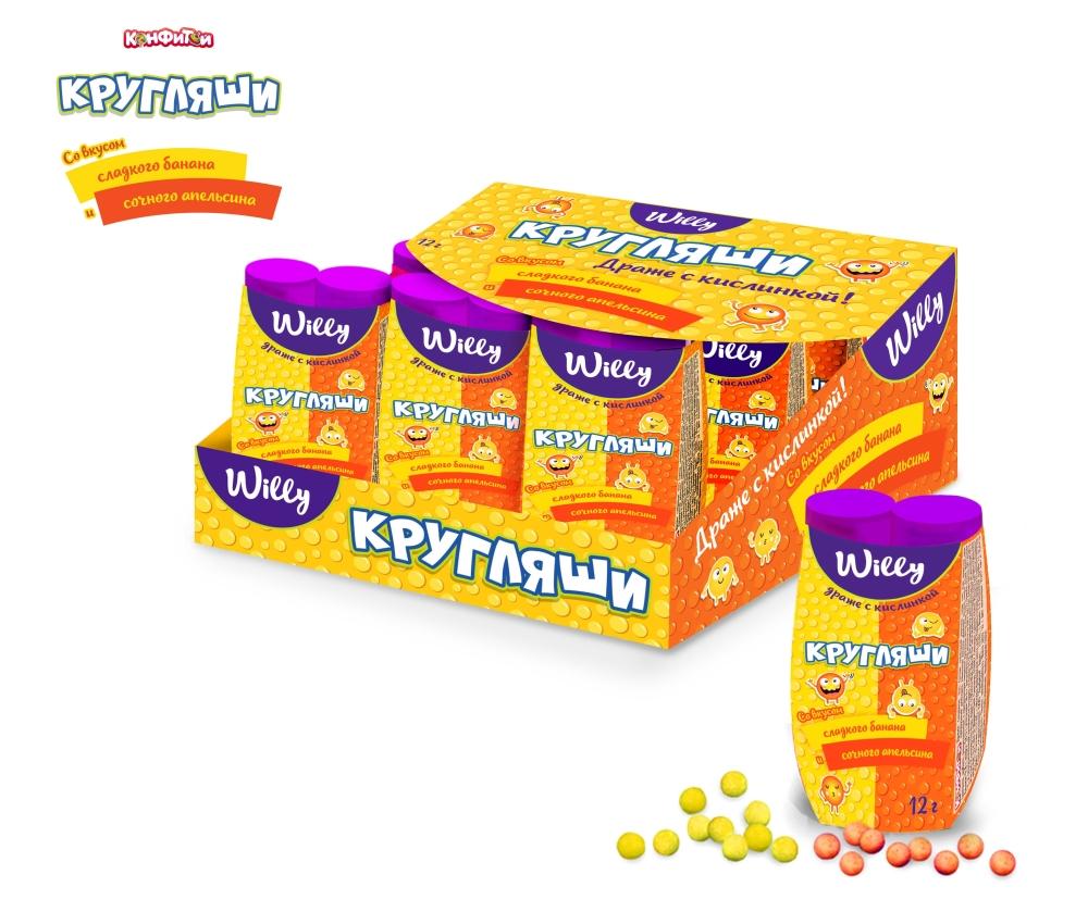 WILLY Кругляши с кислинкой банан и апельсин