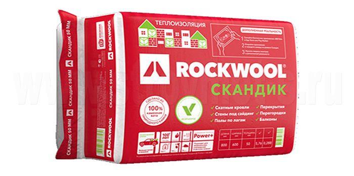 Утеплитель Rockwool Лайт Баттс Скандик 800х600х50 мм 5.76 кв.м